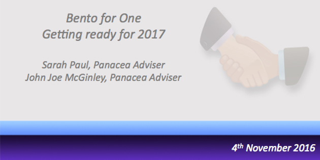 Bento for One Webcast – Getting ready for 2017